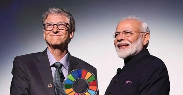 PM Modi receives Global Goalkeeper Award